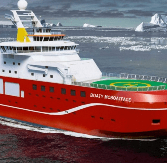 "The Naming of a $290 Million Research Ship Was Left to the Public Who Came up With ""RRS Boaty McBoatface"""
