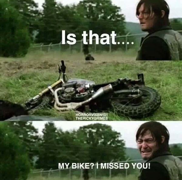 daryl gets his bike back