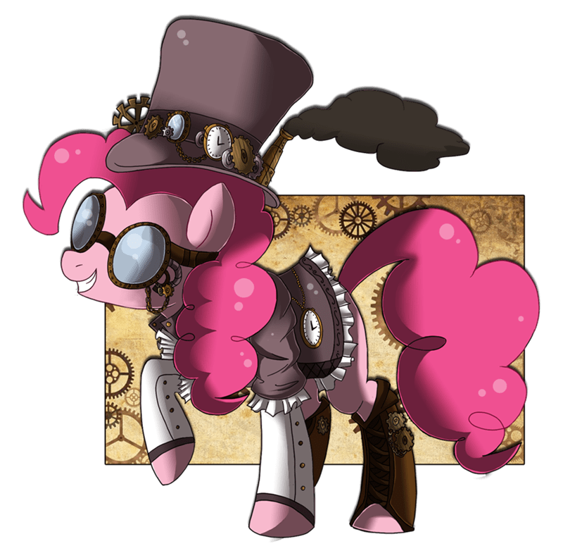 Steampunk pinkie pie mod can't say no to goggles - 8760982528