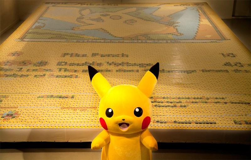pokemon memes world record pikachu card mosaic