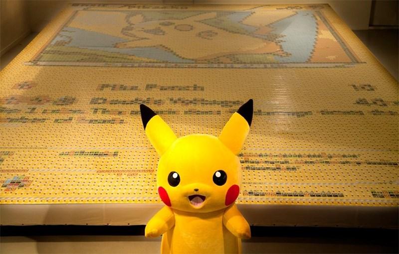 pokemon memes world record pikachu card mosaic