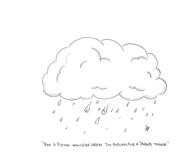 web comics rain idiom Don't Rain on My Parade!