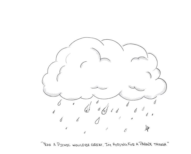 web comics rain idiom Don't Rain on My Parade!