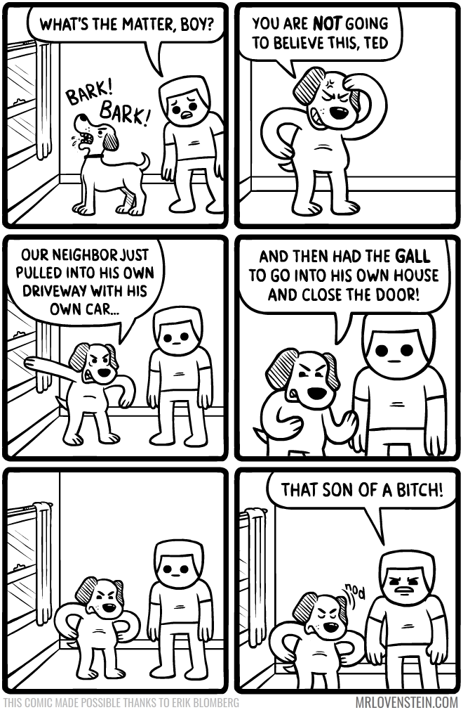 web comics dogs barking How Dare He?