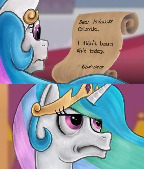 applejack princess celestia - 8761143552