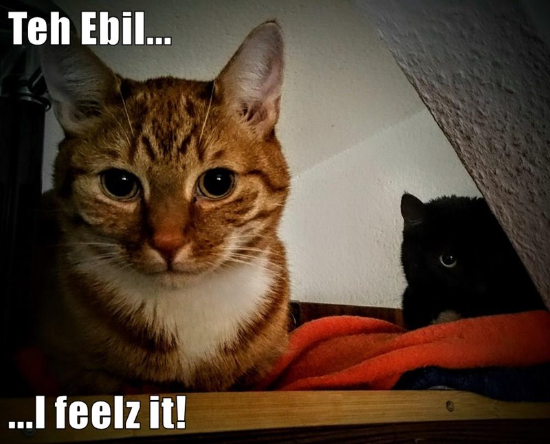 Teh Ebil...  ...I feelz it!