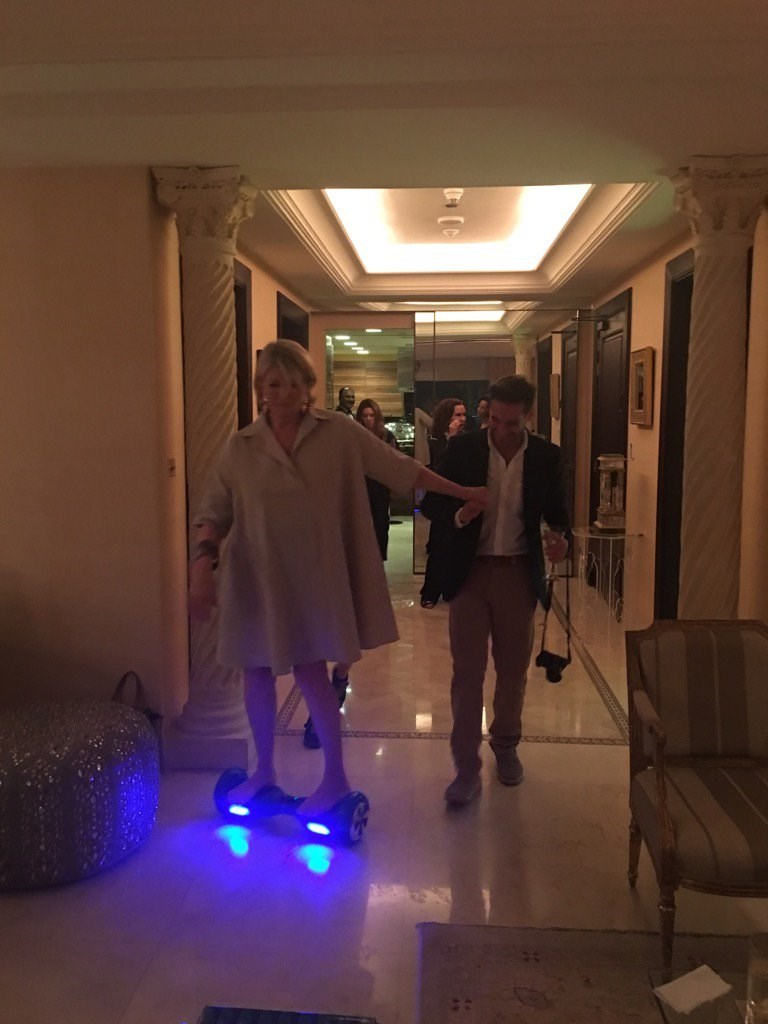 funny twitter image A Tipsy Martha Stewart Rode a Hoverboard