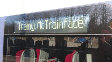 names trains Trainy McTrainface Must Be Boaty McBoatface's Landlocked Cousin