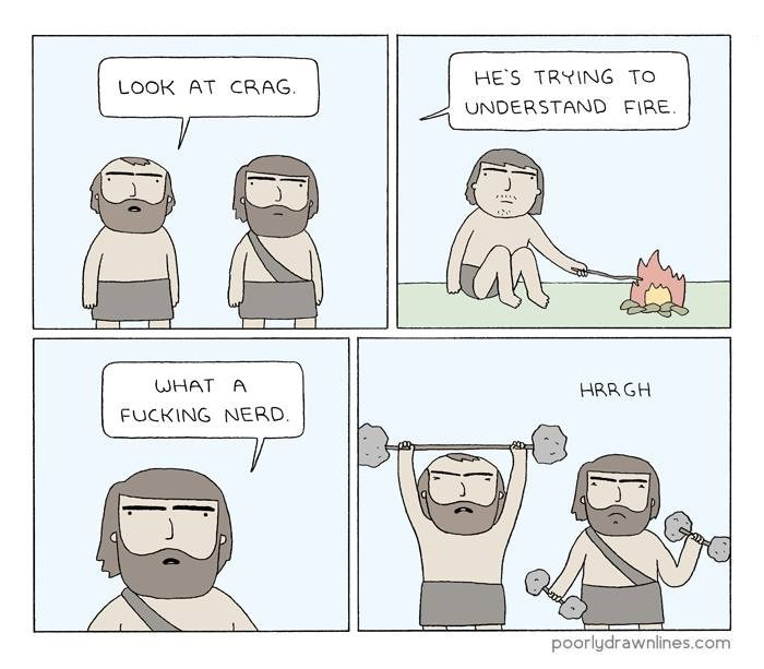 web comics fire do you even lift Early Bromagnon Man
