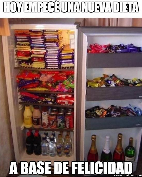 dieta a base de felicidad