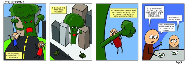 web comics broccoli monsters I Don't Think They Teach That in School