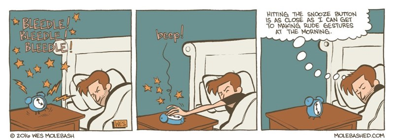 web comics mornings snooze Don't Dare Say Good Morning to Me