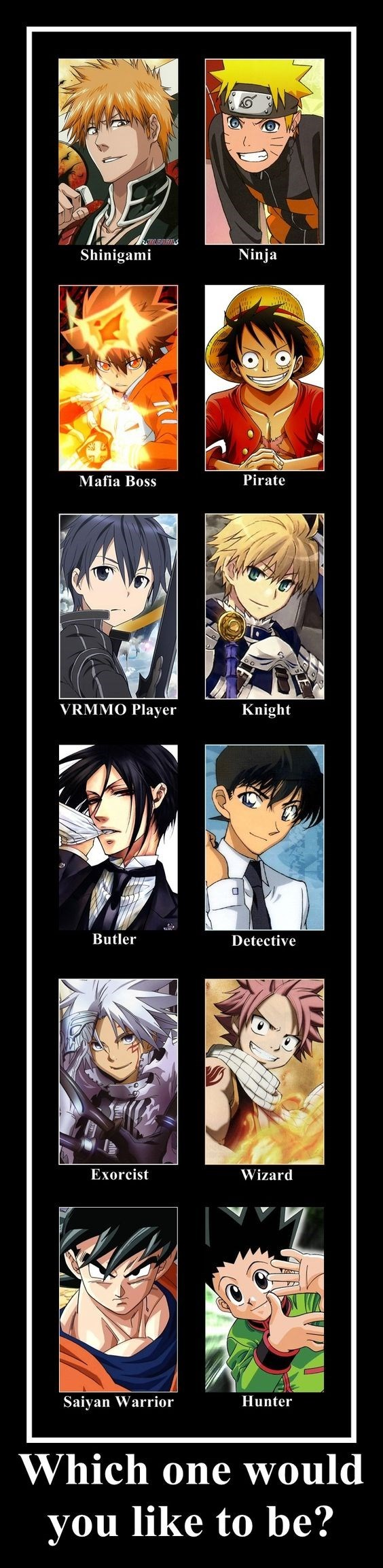 anime memes which anime character do you want to be