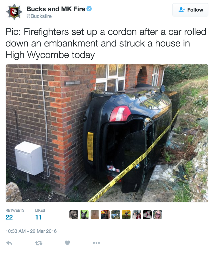 funny fail image car ends up in most impossible spot