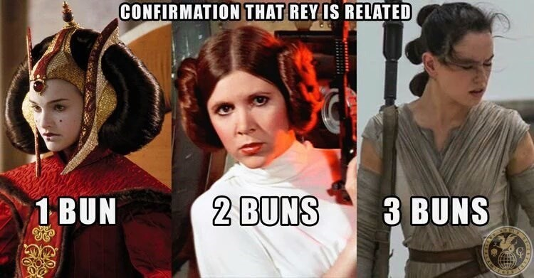 star wars memes rey skywalker confirmation three buns