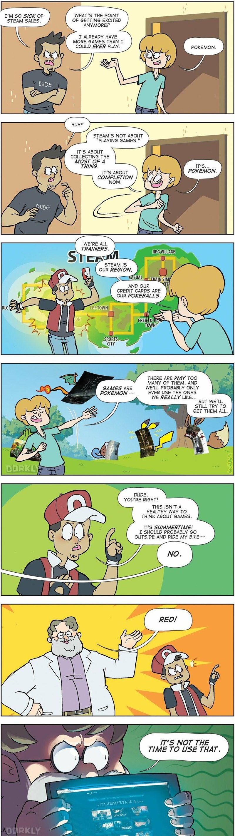 steam Pokémon web comics theory