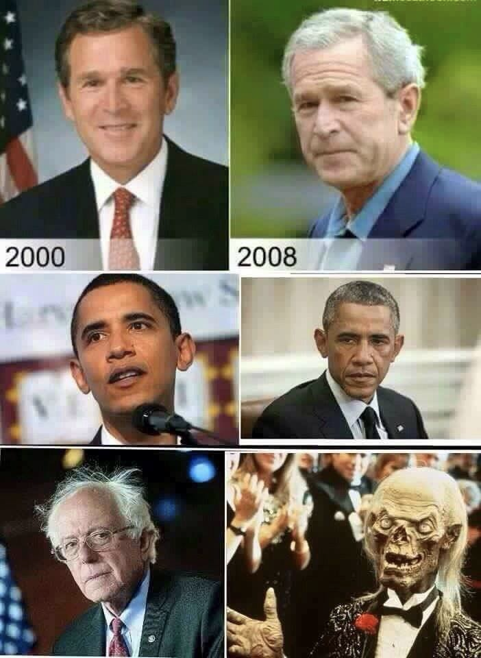 bernie sanders aging old people crypt keeper - 8761588992