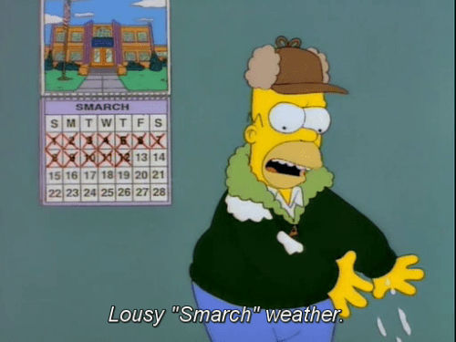 cartoon memes lousy smarch weather