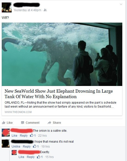 sea world FAIL the onion facebook animals - 8761669888