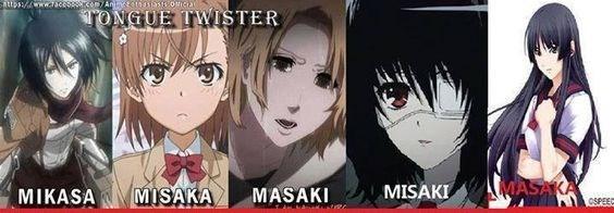 anime memes name tongue twister