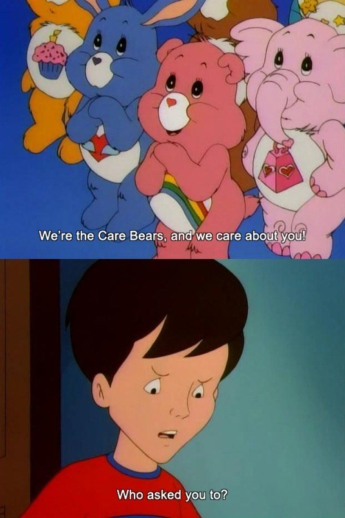 Get Outta Here With That Care Bear Stare