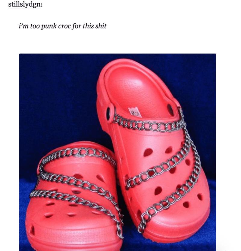 funyn memes punk crocs