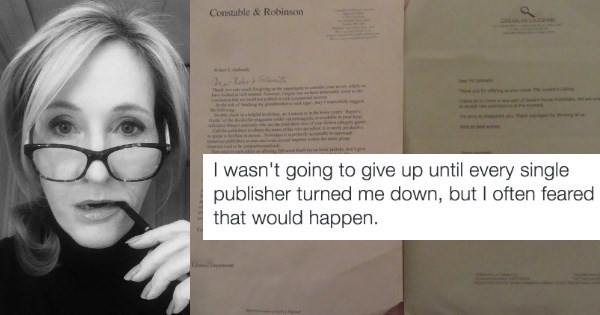 jk rowling twitter J.K. Rowling Shares Her Rejection Letters to Inspire Fans