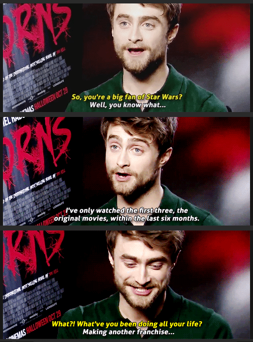 geek memes daniel radcliffe star wars fan