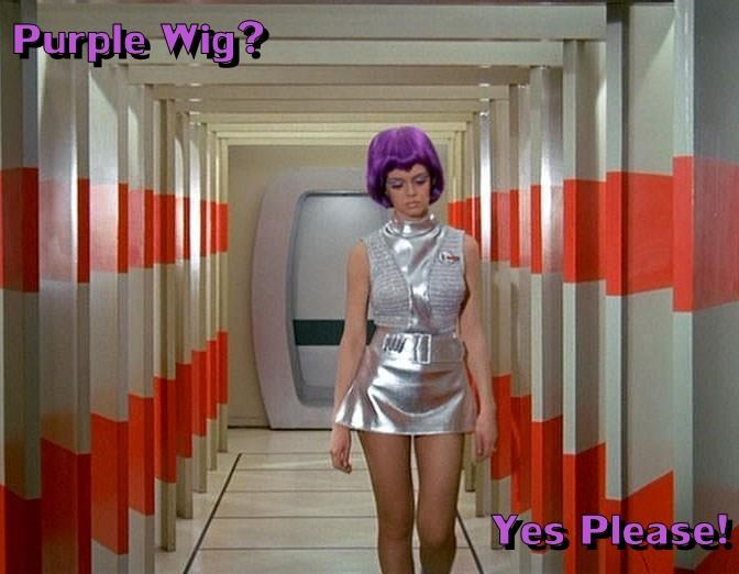 Purple Wig?  Yes Please!
