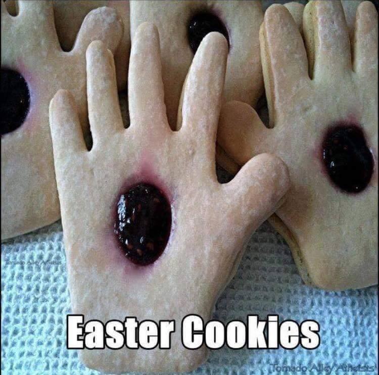 jesus hand easter cookies