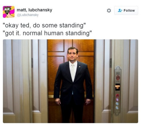 ted cruz normal human standing
