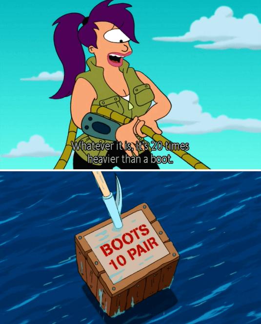 futurama boots gag