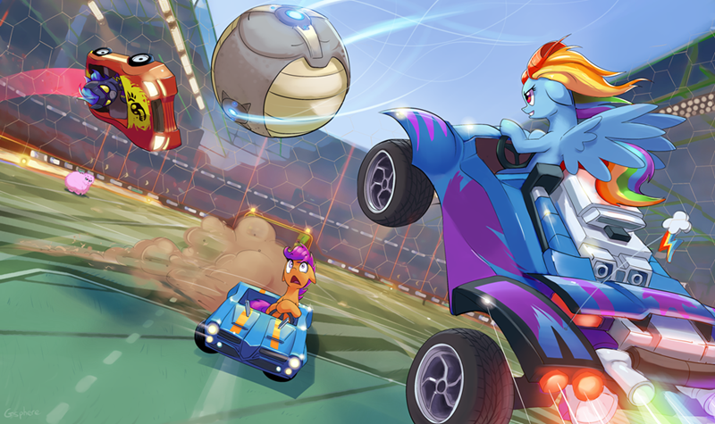 fluffle puff shadowbolts Scootaloo rainbow dash rocket league - 8762167040
