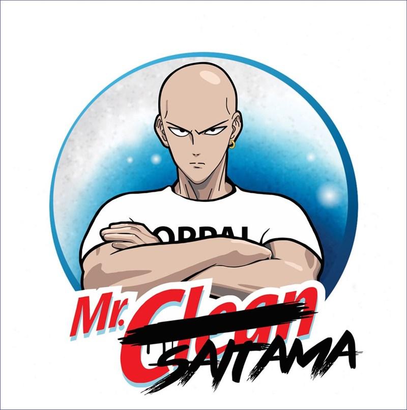 saitama mr clean shirt