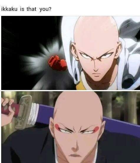 anime memes saitama looks like ikkaku