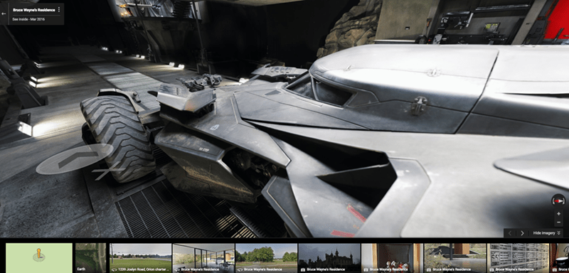 batman v superman Bruce Wayne's Residence Is Available to Tour via Streetview on Google Maps