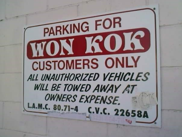 parking-space-chinese-restaurant-sign