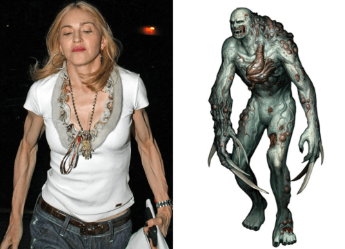 madonna-arms-resident-evil-resemblance-uncanny