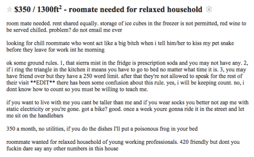 craigslist-high-maintenance-roommate