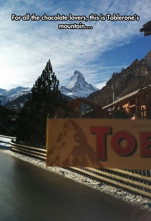 IRL toblerone mountain - 8762540544