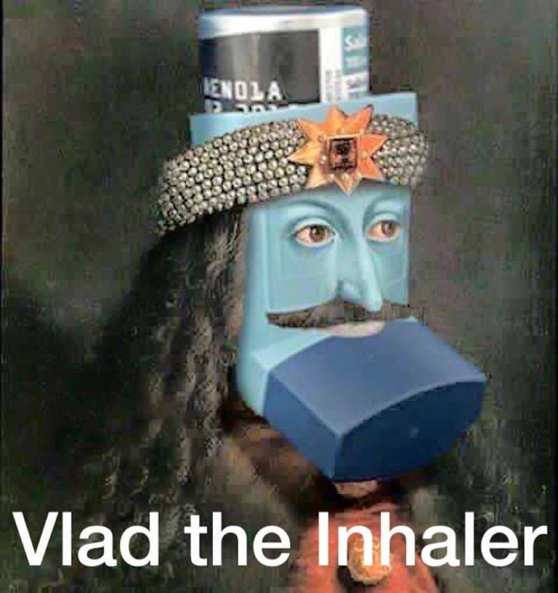 inhaler puns image - 8762735360