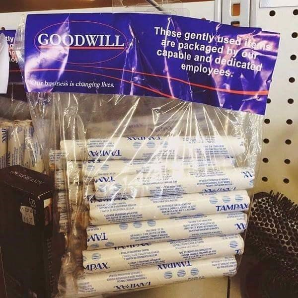 used-tampons-goodwill-label-mistake