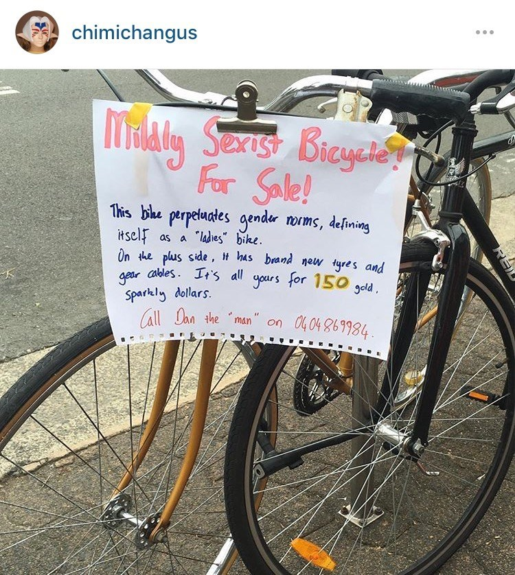 sexism signs bikes - 8763052800
