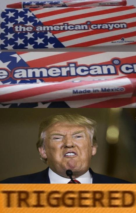 donald trump triggered crayons politics - 8763099648