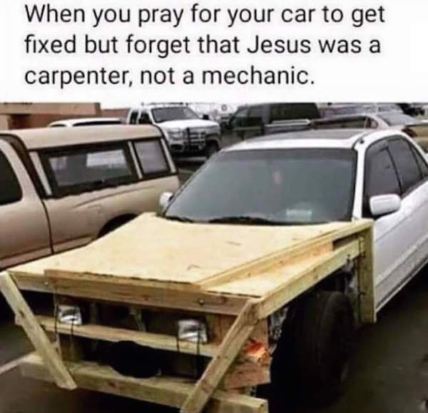 jesus cars rednecks