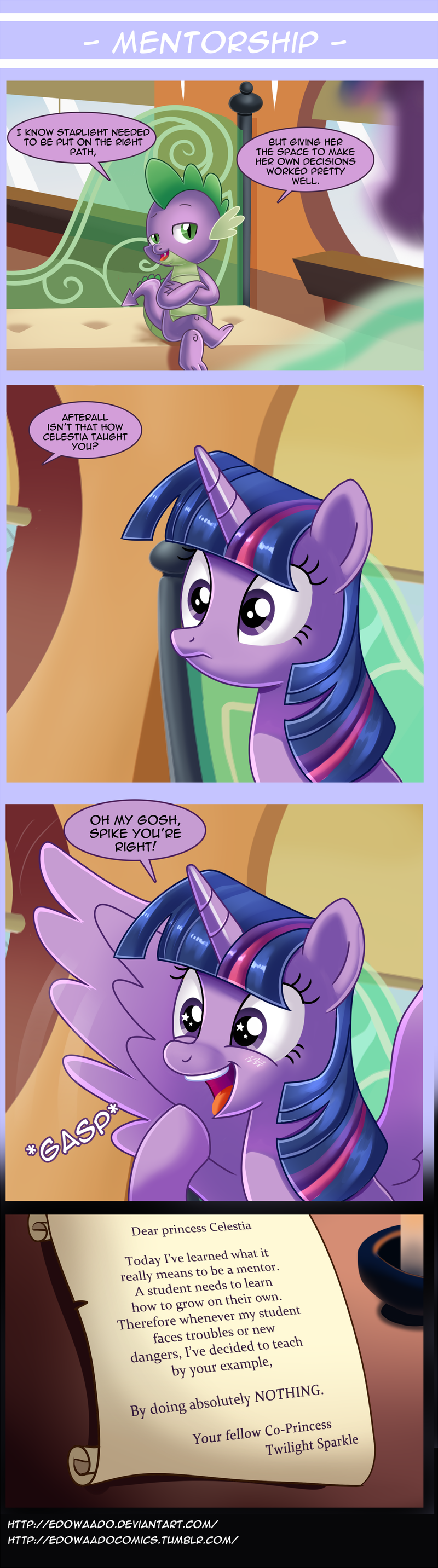 spike,twilight sparkle,the crystalling,comic,princess celestia