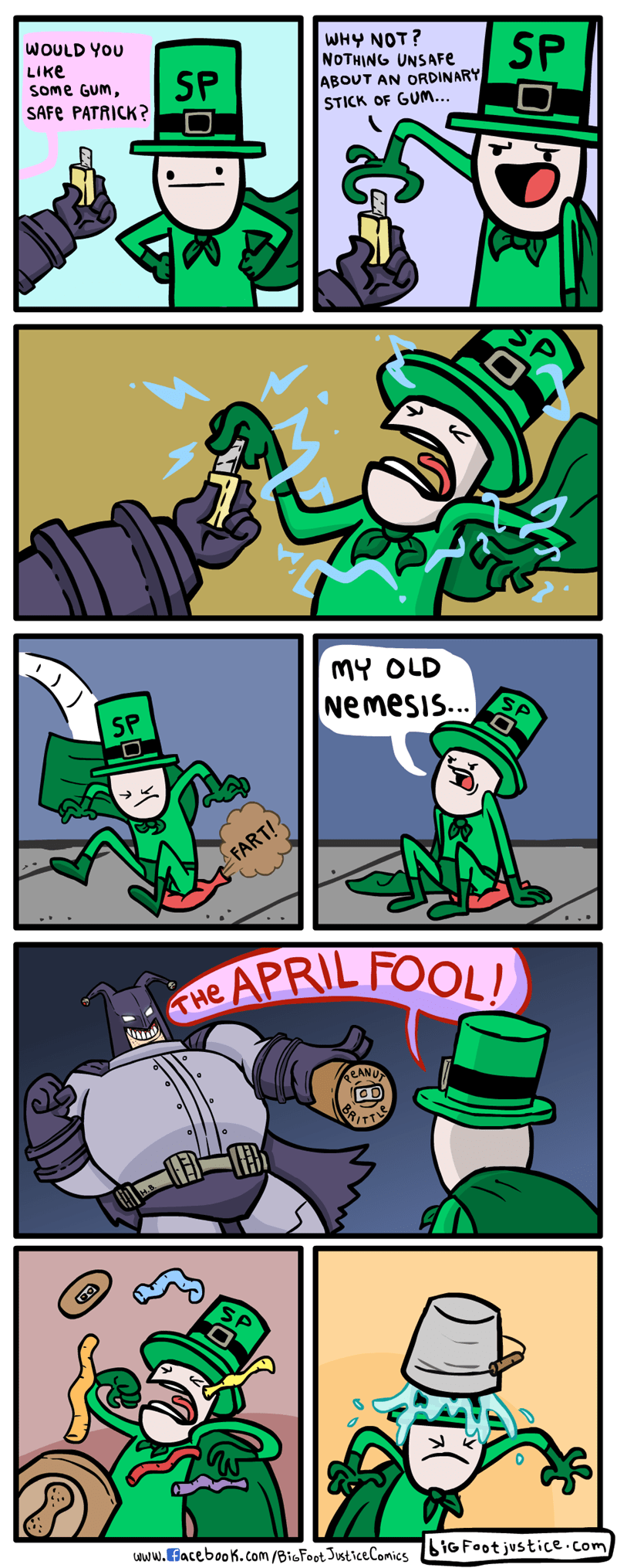 St Patrick's Day april fools lol batman web comics - 8763498496