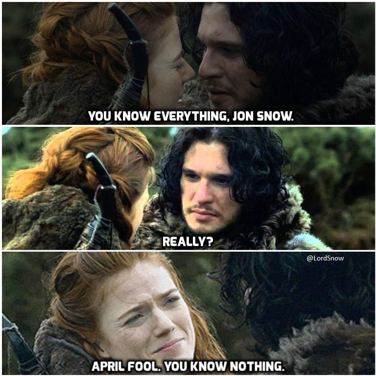 not even jon snow can escape april fools day