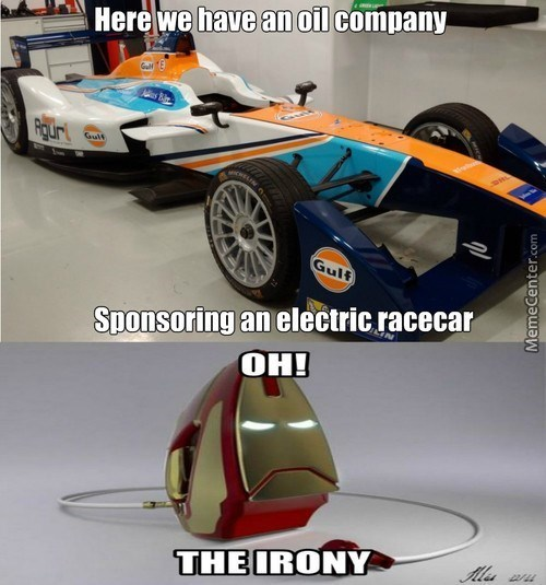 electric-car-racer-oil-company-awkward-partnership-ironman
