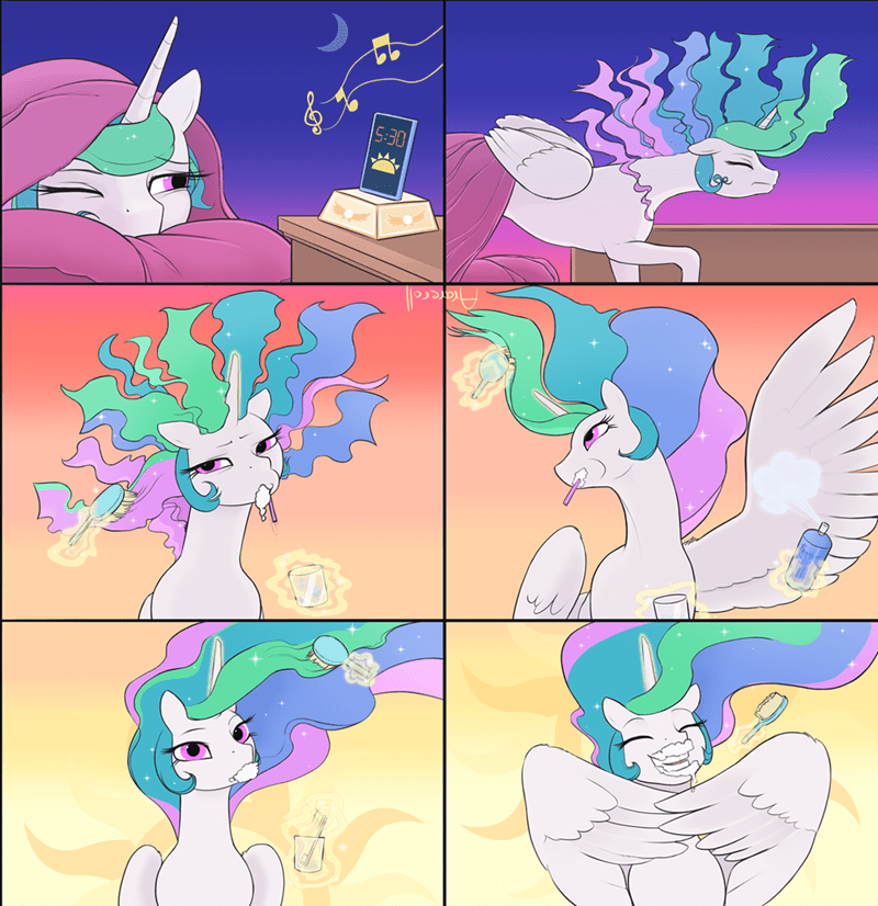comic,princess celestia